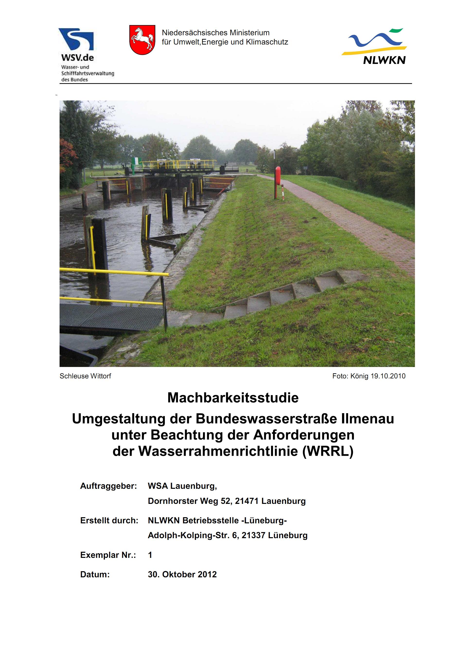 121030_WSV_Ilmenau_Machbarkeitsstudie