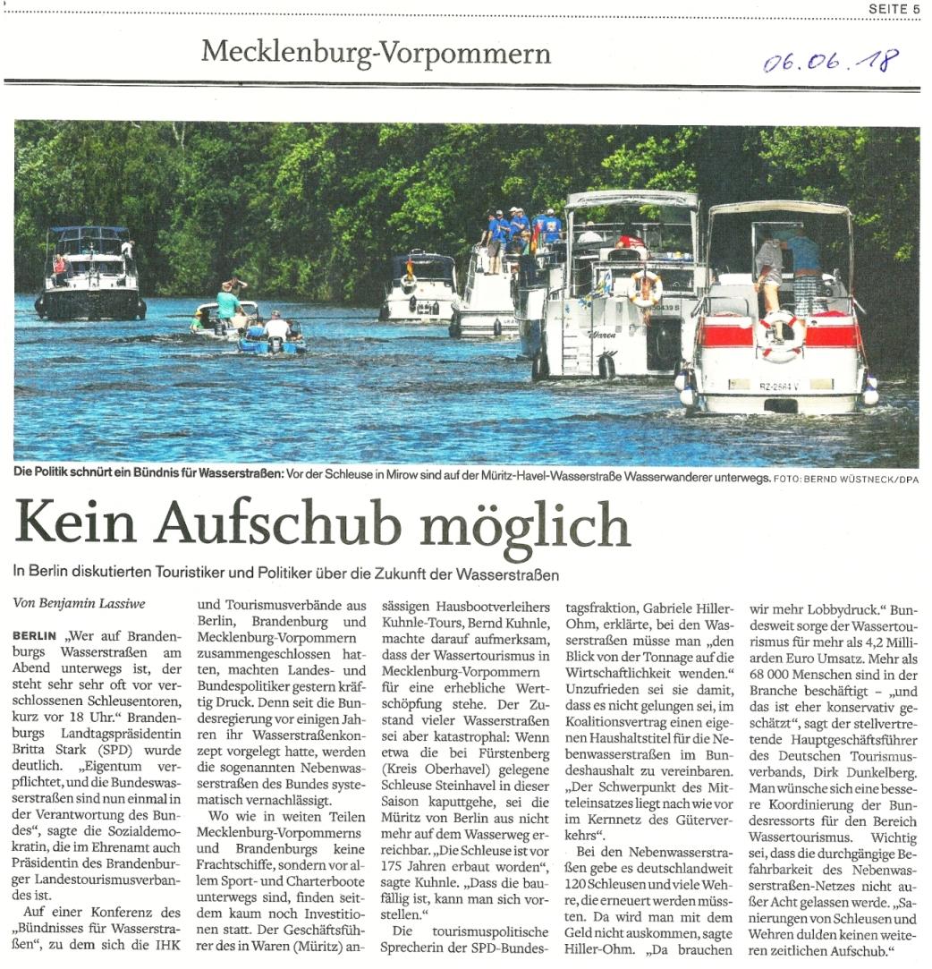 180606_Schweriner Volkszeitung_Kein Aufschub möglich