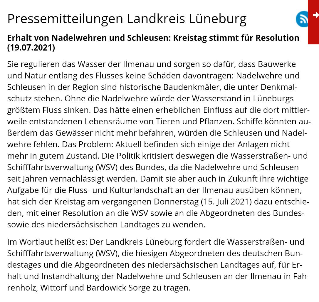 Pressemitteilung Landkreis Lüneburg